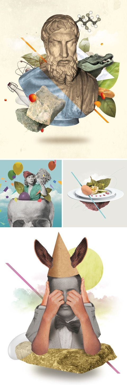 Philosophie Magazine Allemagne : Épicure / Nazario Graziano + Colagene, illustration clinic