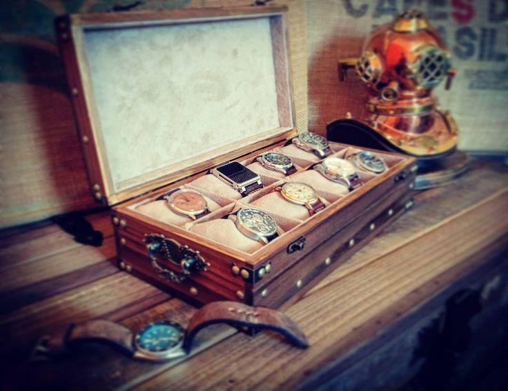 #woodbox  #jewelbox  #treasurechest  #handmade  #watchbox  #watches  #vintage #medieval  #helmetdiving  #rusticman