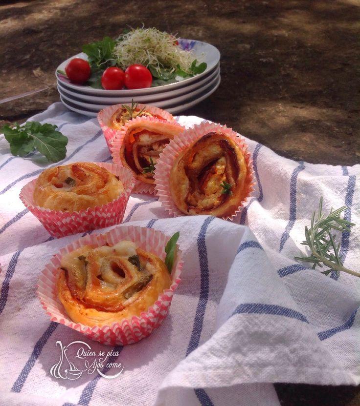 Rollitos de hojaldres varios, picnic.