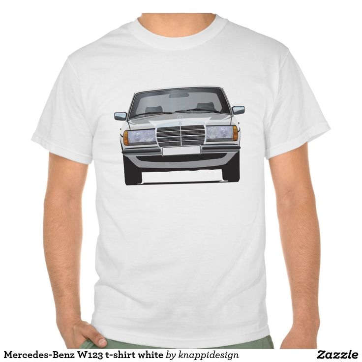 Mercedes-Benz W123 t-shirt white  #mercedesbenz #mercedes #mercedes-benz #123 #tshirt #tshirts #tpaita #troja #germany #classics #zazzle