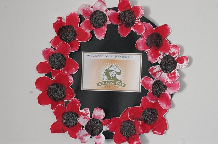 Anzac day wreaths - potato prints with poppy seeds | ANZAC Day ...
