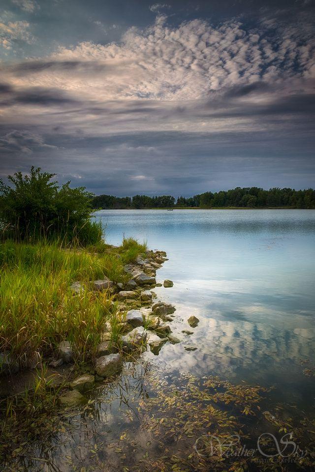 Lake Niapenco Reservoir in Binbrook, Ontario, Canada
