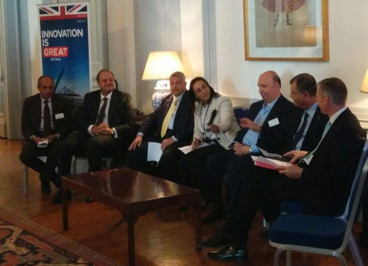 Nancy Emil presiding the Oil and gas roundtable, UK Ministerial mission 2015, Egypt