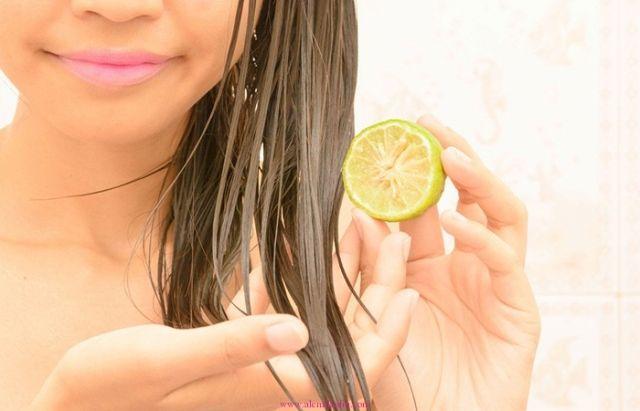 saçlar için limon