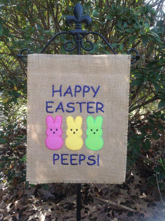 Easter Burlap Yard/Garden Flag