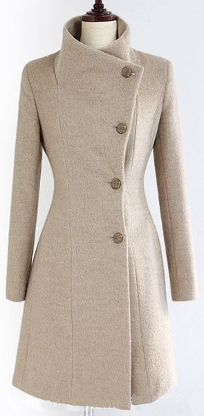 uk Fashion and   Hourglass Winter official Coats Wool store Hourglass Blend Sli Shape  Women