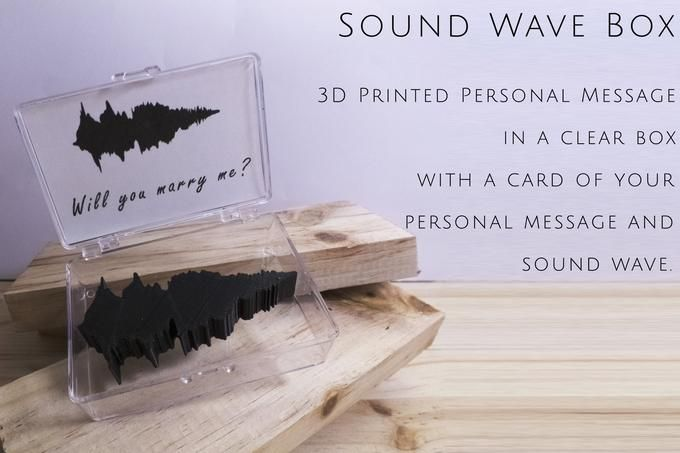 3D Printed Sound Wave Box by Cancore 3D Printing #3dprinting