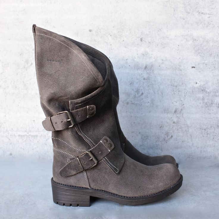 coolway - Alida leather motorcycle boots - dark brown - shophearts - 1