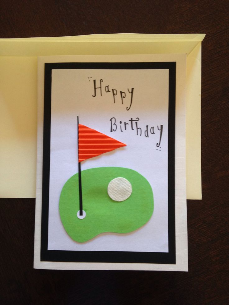 wedding anniversary card pictures%0A Male birthday card  golf