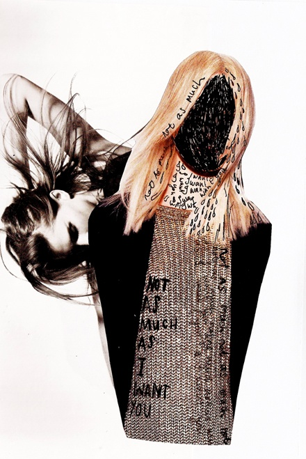 What Not To Say In A Fight by Claire Clift. Collage + Ink