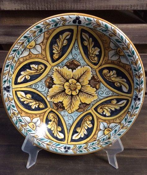 Italian style plate by Bluanticoceramics on Etsy