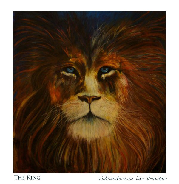"""""""THE KING""""  Acrylics and pastels on canvas.  #fineart #painting #lion #valentinalocriti"""