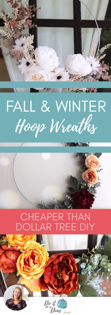 Cheaper than Dollar Tree Hoop Wreaths! Fall & Winter DIY