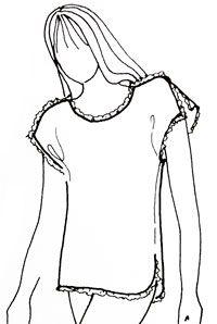 Выкройка футболки и шорт с запахом для сна. Изготовление футболок на заказ | pokroyka.ru-уроки кроя и шитья
