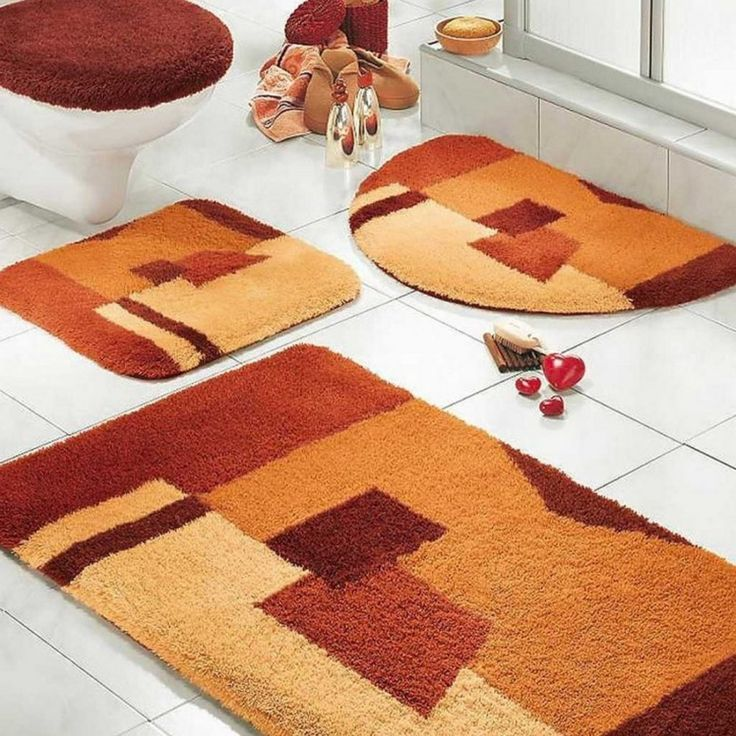 Burnt Orange Bathroom Floor Mats