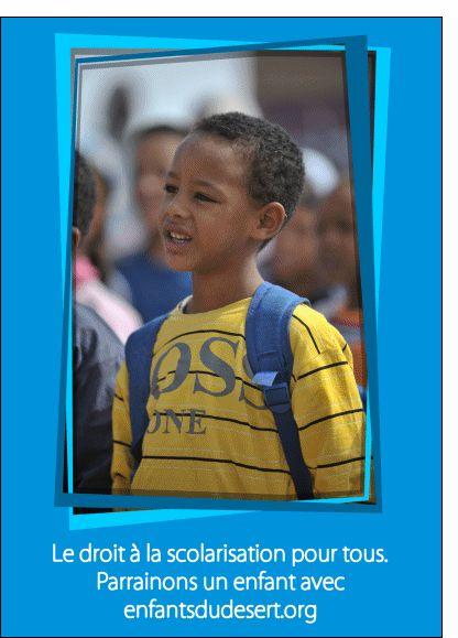 Carte Droit à la scolarisation pour tous pour envoyer par La Poste, sur Merci-Facteur !