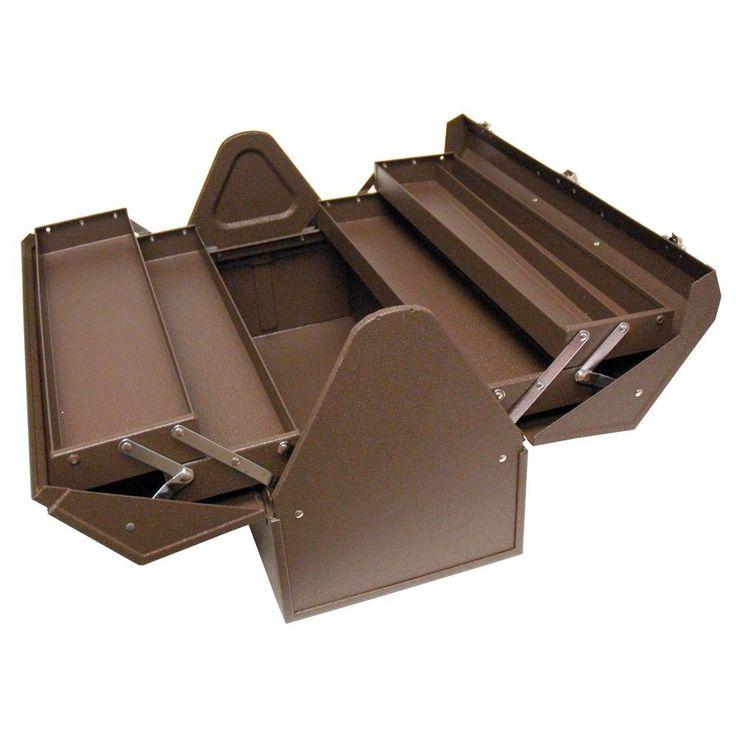 Homak Cantilever 22 in. Steel Tool Box, Brown Wrinkle