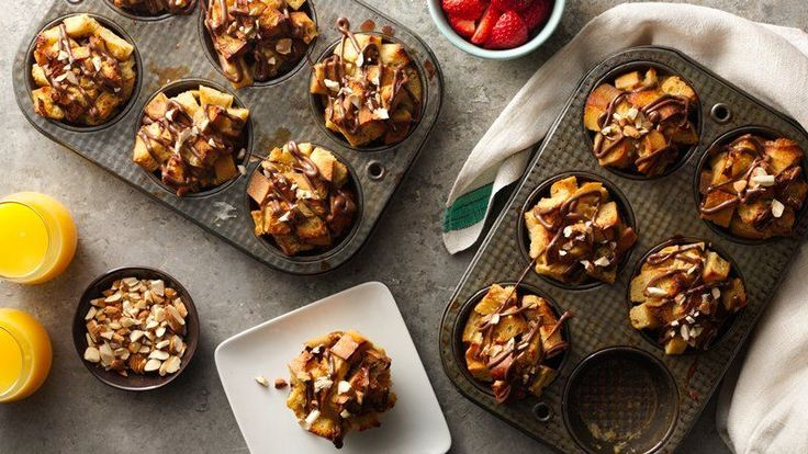 When you're craving French toast, skip the griddle, and butter the muffin tins instead! These gooey, crispy, chocolaty, nutty treats are exciting enough to be the star of your next brunch spread, but easy enough to make on any weekend morning.