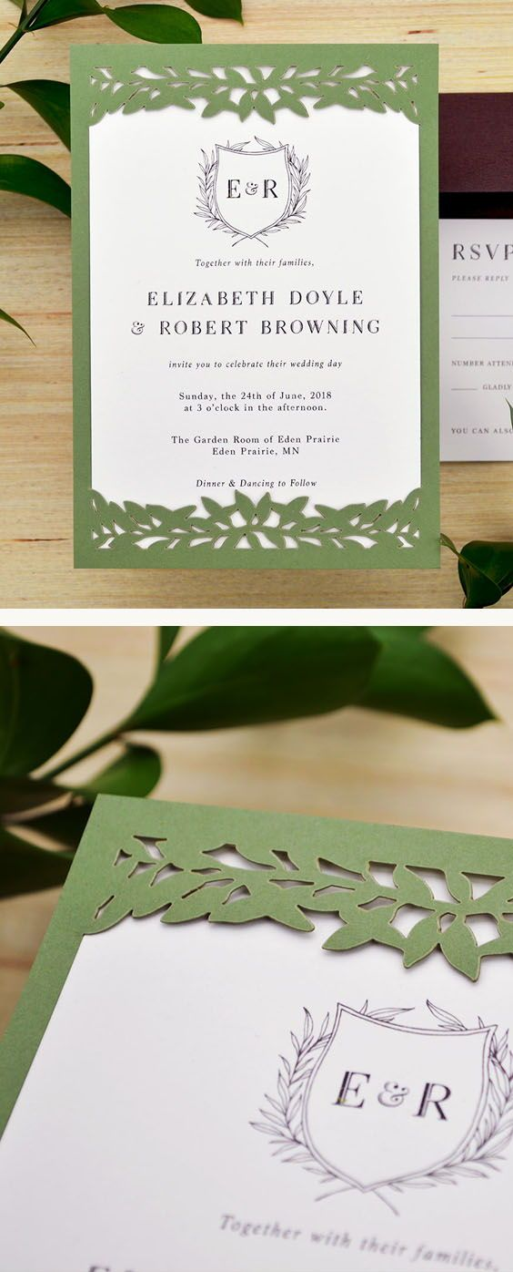 DIY laser cut wedding invitations with the