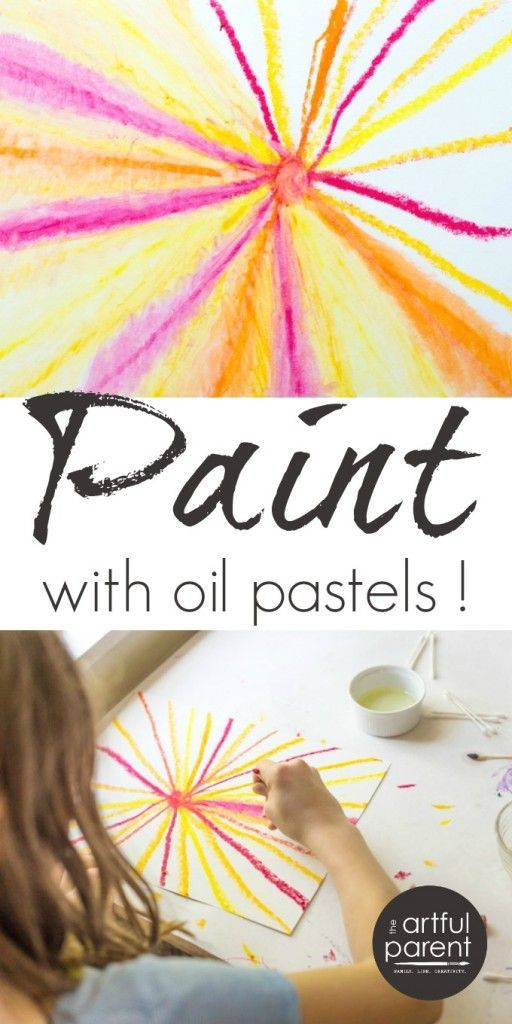 Oil Pastel Painting - Easy and Fun for Kids and Adults