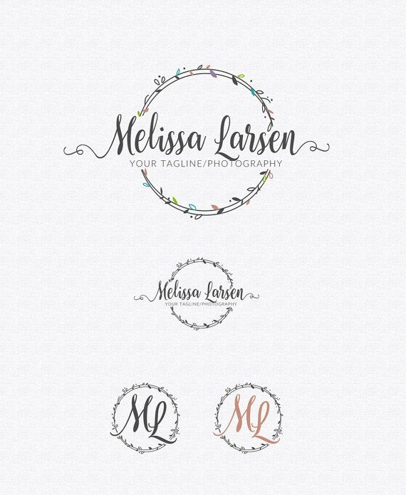 Professional Logo Design at a fraction of the cost. Customize this logo for your own business. #Photography #Watermark #logo #logostore #brandidentity #logodesign #graphicdesign #designer #needlogo #designer #logodesign #logodesigner #etsy #script #wreath #initials #boho