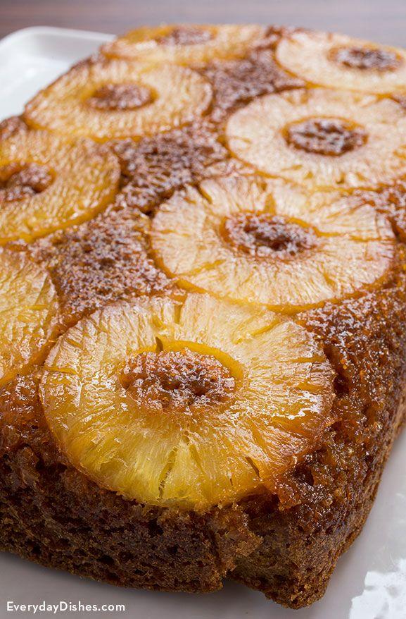 Carrot pineapple upside down cake recipe