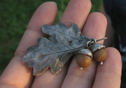 Image detail for -... art clay fine silver and acorns it can be used as a pendant or brooch