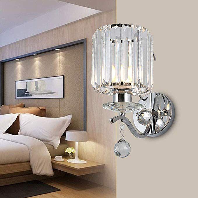 Topdeng Moderno Cristal Lampara Pared Cableado E27 Aplique De Pared Dormitorio Sala De Estar Corredor Luz Apliques De Pared Lamparas De Pared Luces De Lectura