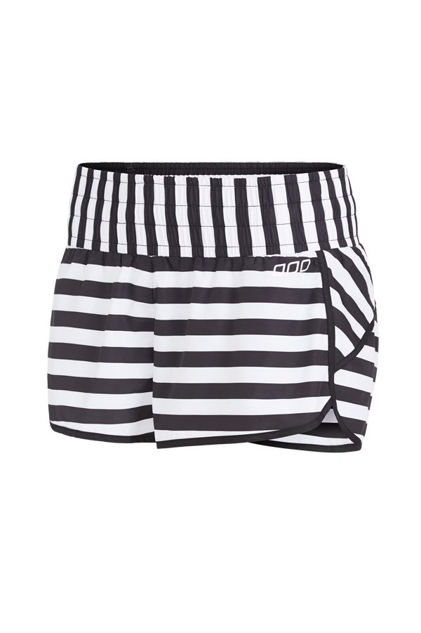 Black & whute striped shorts - Lorna Jane