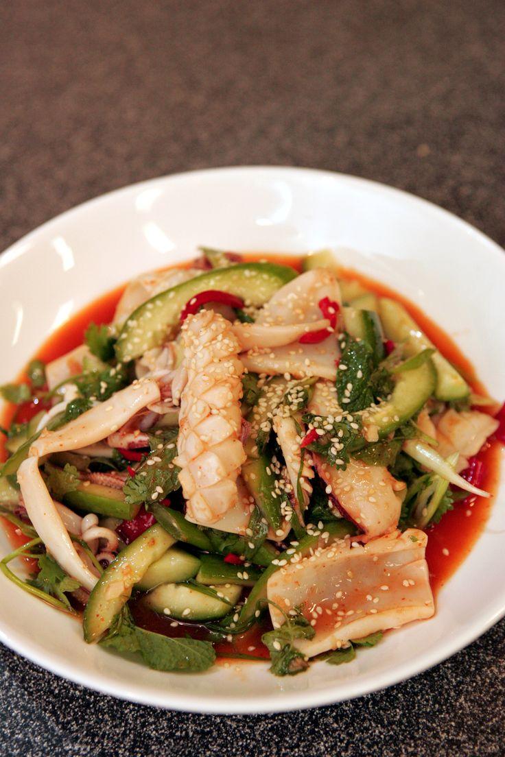 BBQ squid salad (Seafood BBQ class)