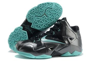 King James Lebron 11 Black-Jade Men Size Athletic Sneakers