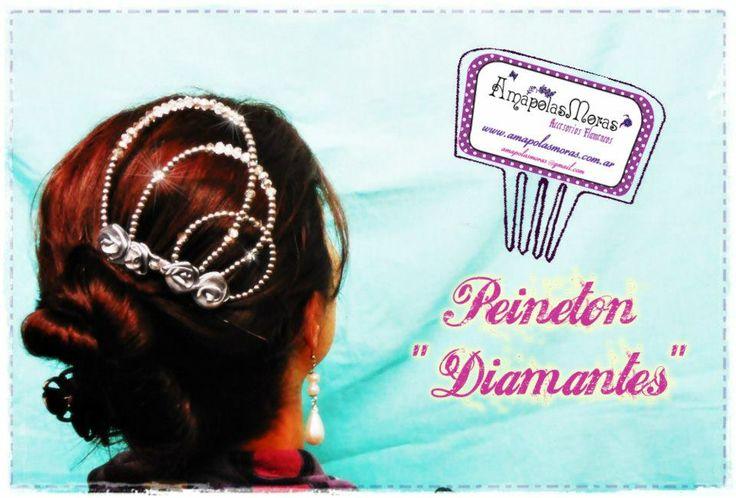 """una verdadera joya para seguir brillando arriba del escenario! Peineton modelo """"Diamantes"""" AmapolasMoras - Complementos Flamencos"""
