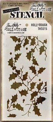 Stamper's Anonymous / Tim Holtz - Layering Stencil - Holly Bough