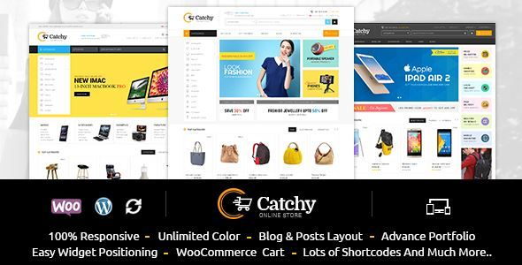 ThemeForest - Catchy - Multipurpose WooCommerce Theme Free Download