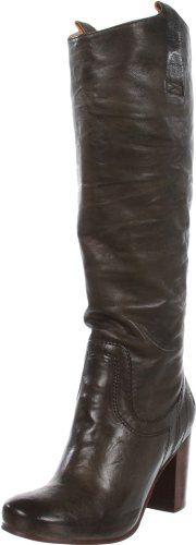 FRYE Women's Carson Heel Tab Knee-High Boot,Charcoal,7.5 M US