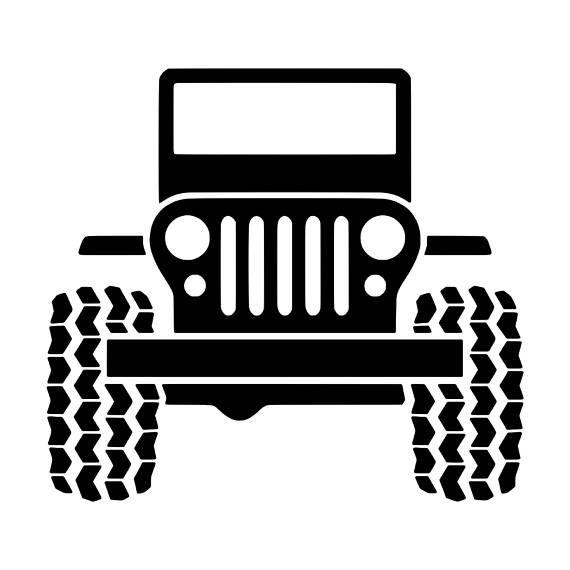 Jeep Wrangler  Put it on your dive tank, cooler, YETI cup, car window or anything else that needs to look more awesome.  Decal size is 4.5x5 inches. Your choice of 1 color (black, red, blue, white, pink). This adhesive decal is durable for 6+ years outdoors and easy to apply to any clean nonporous surface. Please view our shop and save on shipping if you order more. Decals come with application instructions and transfer paper already attached for easy application.
