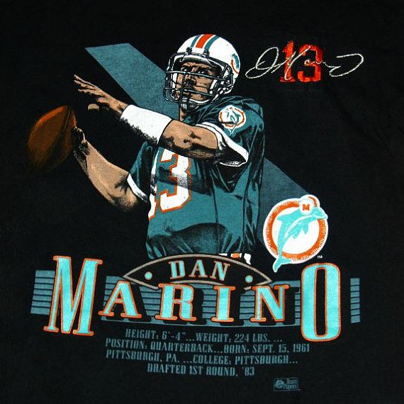 Very Rare Vintage Dan Marino Miami Dolphins by WelshGoatVintage