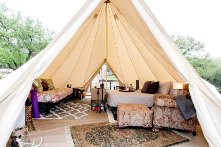 Family-Friendly and Unique Bell Tent Camping near San Antonio, Texas