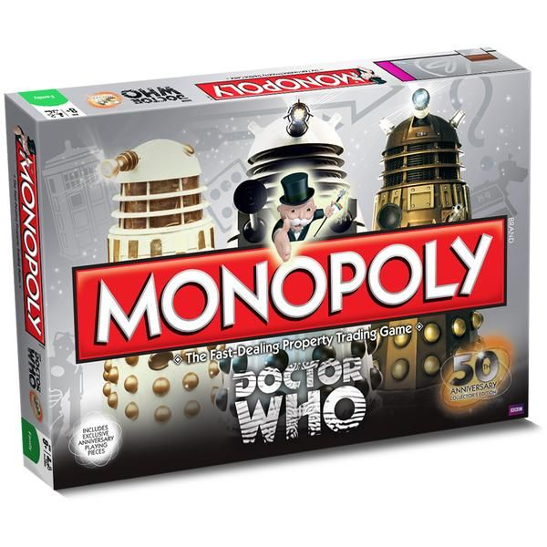 """""""REC-RE-ATE! REC-RE-ATE!"""": 'Doctor Who' Celebrates 50 with Special Edition Monopoly"""