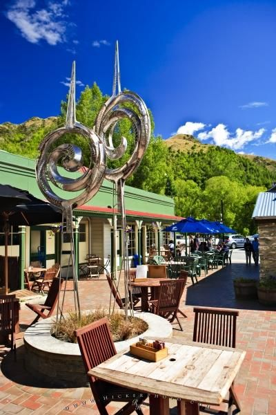 A sculpture in the historic town of Arrowtown, Central Otago, New Zealand.