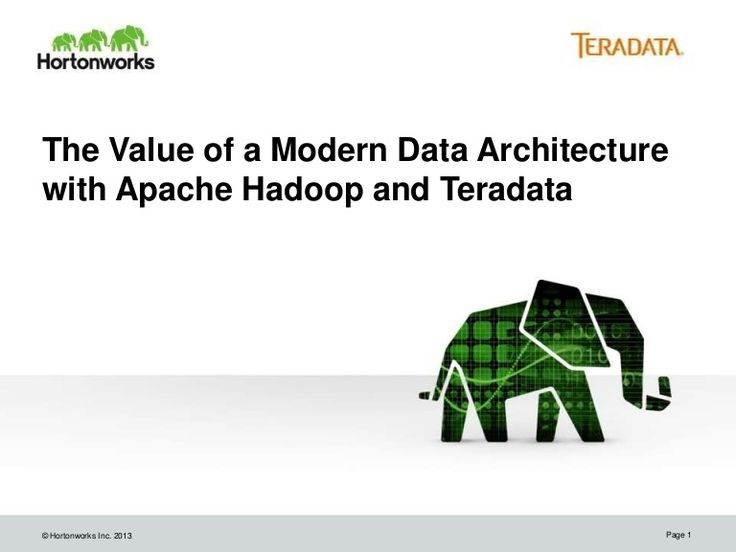the-value-of-the-modern-data-architecture-with-apache-hadoop-and-teradata by Hortonworks via Slideshare