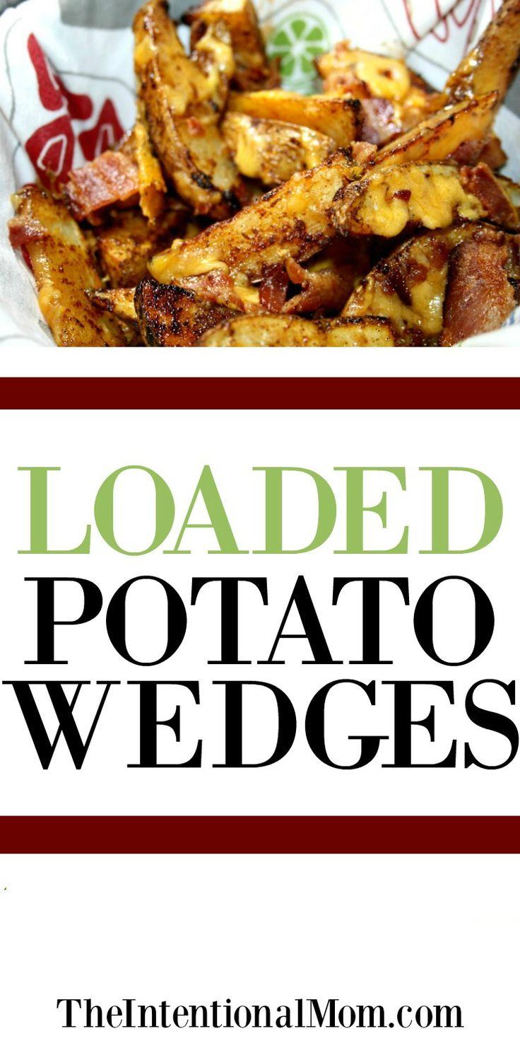 Loaded Potato Wedges | Potato Wedges | Frugal Meal Idea | Money Saving Meals | Family Meal | Family Favorite Meals via @www.pinterest.com/JenRoskamp
