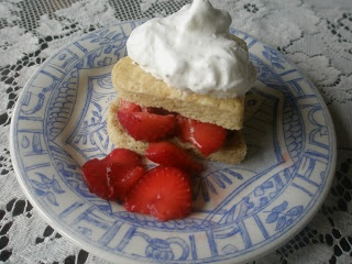 Strawberry Shortcake Biscuits, Gluten-Free. Just made these-- best GF shortcakes I've made so far. Used Cup4Cup flour.