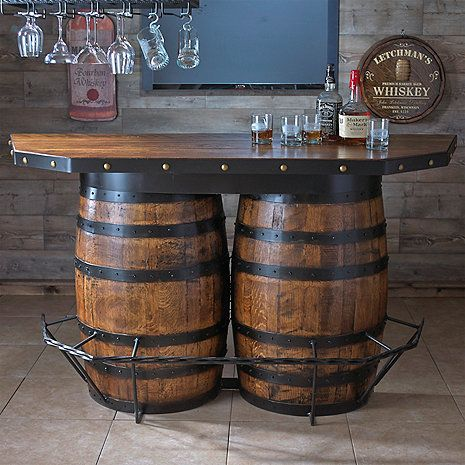 Tennessee Whiskey Barrel Bar at Wine Enthusiast - $3,695.00