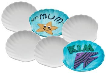 Ceramic Seashell Dish for a great under the water theme – Pack of 6 - MTA Catalogue