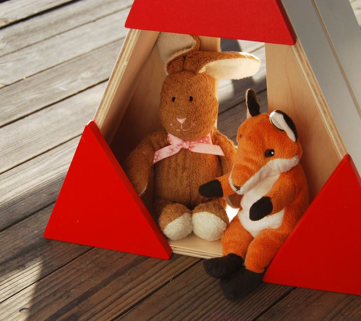 Wooden teepees, made by PLAYWOOD. They can by a shelf, they can be a storage boxes, they can be a decoration of child room, they can be a toy...