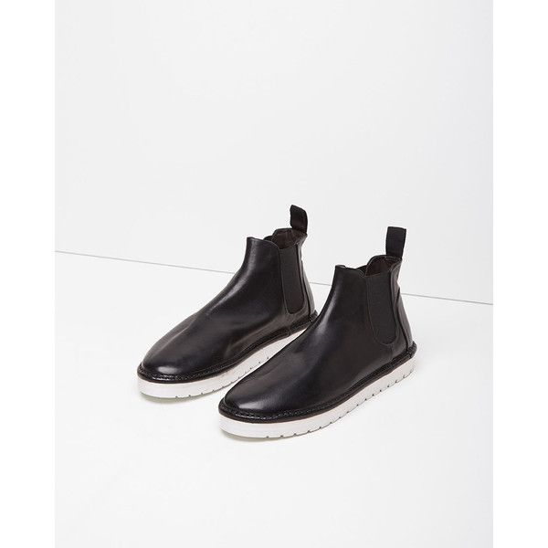 Marsèll Gomma Sancrispa Alta Chelsea Boot (253 CAD) ❤ liked on Polyvore featuring shoes, boots, ankle booties, nero, leather platform booties, chelsea boots, chunky booties, leather chelsea boots and leather boots