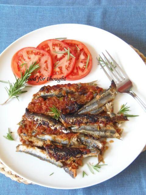 Food for thought: Γαύρος με Τομάτα, Μουστάρδα και Δενδρολίβανο