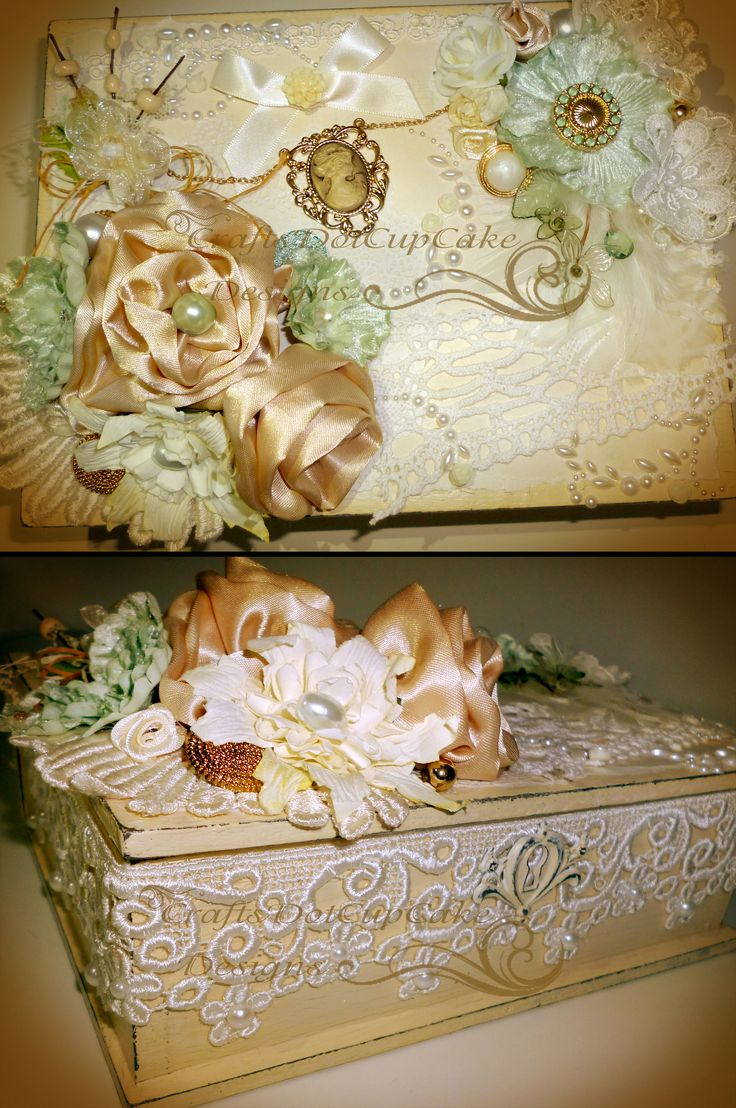 Jewellery Box Decorated using Tresors De Luxe Laces.
