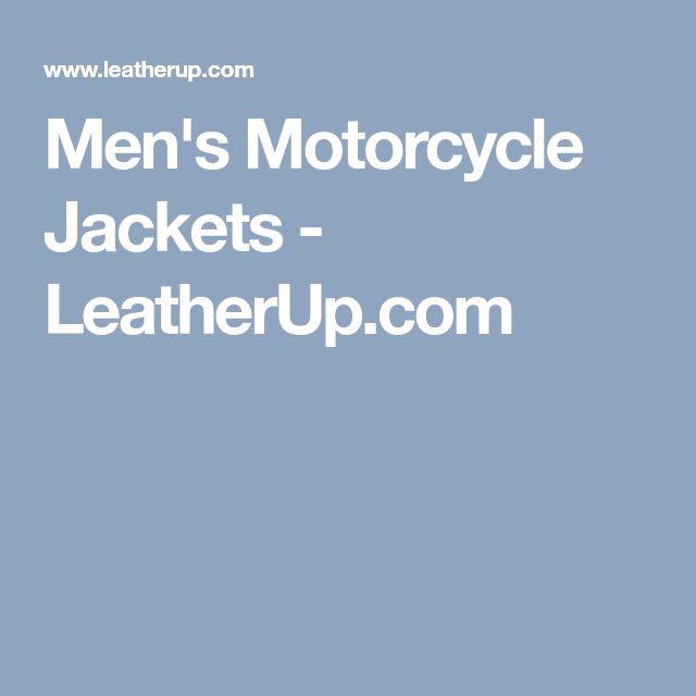 Men's Motorcycle Jackets - LeatherUp.com